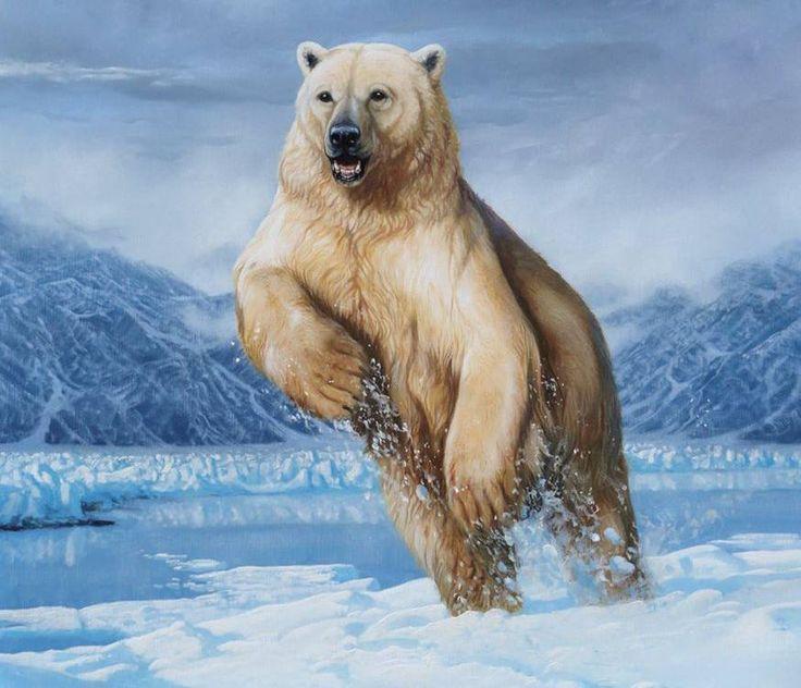 Фото картины с белыми медведями будет