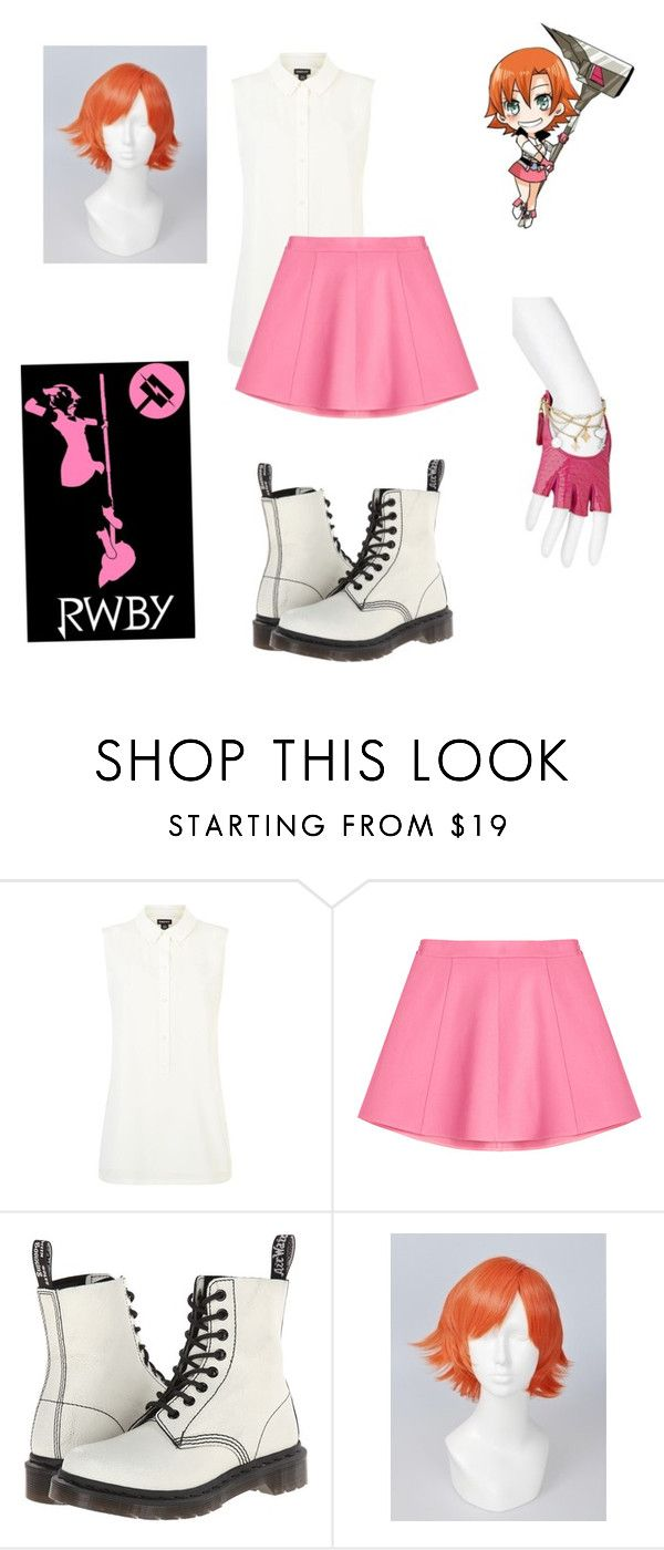 """Casual Cosplay for Nora Valkyrie from RWBY"" by chibi-shinigami ❤ liked on Polyvore featuring DKNY, RED Valentino, Dr. Martens, Louis Vuitton, CasualCosplay, nora, RWBY and Valkyrie"
