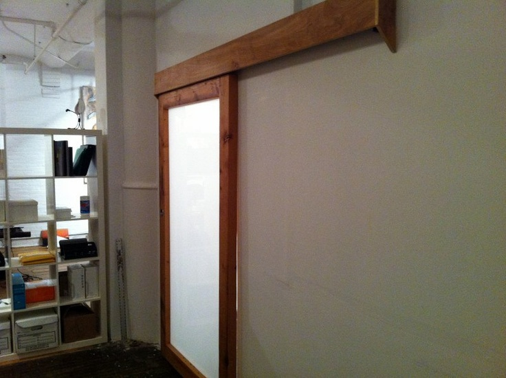 This Sliding Reclaimed Door Has A Hidden Track, I Like The Look Of The Wood