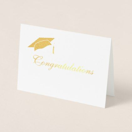 Custom Congratulations Graduate Foil Card - graduation gifts giftideas idea party celebration