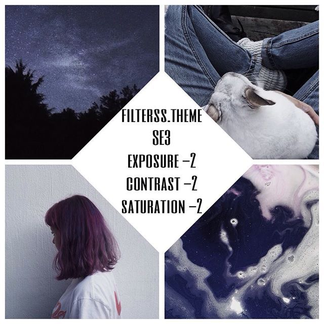 ☄purple filter that makes a soft grunge feed. #freefilter If you want a matching feed like above, make sure to use pictures that are predominantly purple or blue ☁️