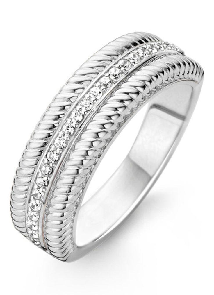 Ti Sento Milano Ring van gerhodineerd sterling zilver • de Bijenkorf