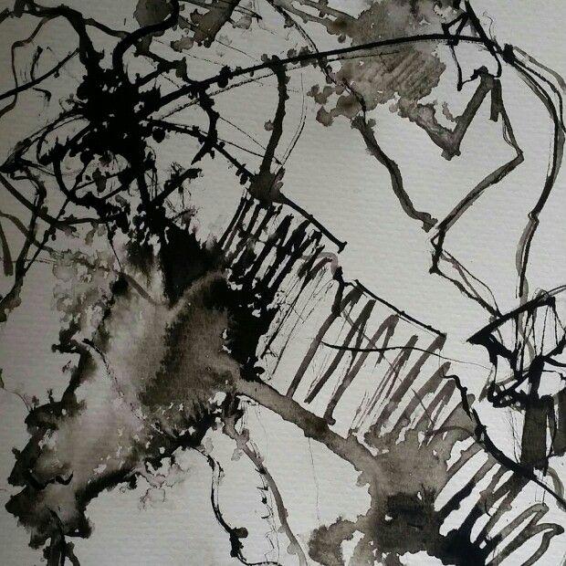 Inner space series Ink on paper Made by Anne Marie Tangen Galleri Tangen on facebook