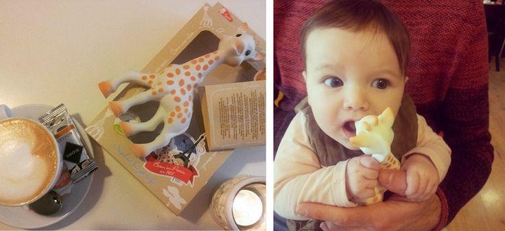Sophie, la jirafa. Juguete favorito de mi niña de alta demanda.