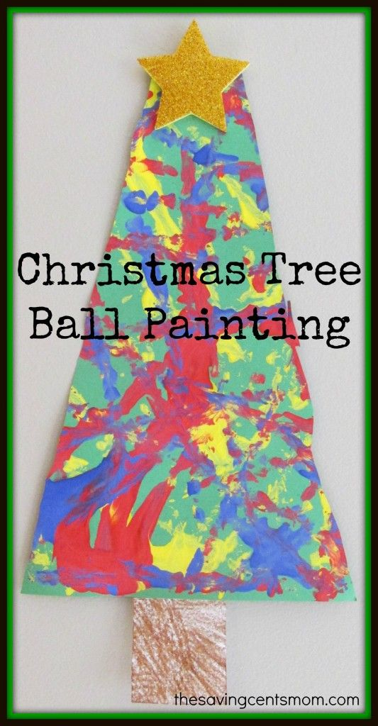 This is SO cool! Christmas Tree Ball Painting activity.