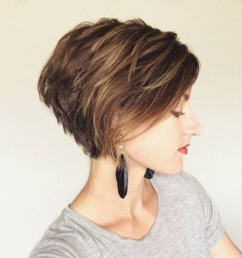 Layered Short Haircut Side View - Women Hairstyles for Short Hair 2016