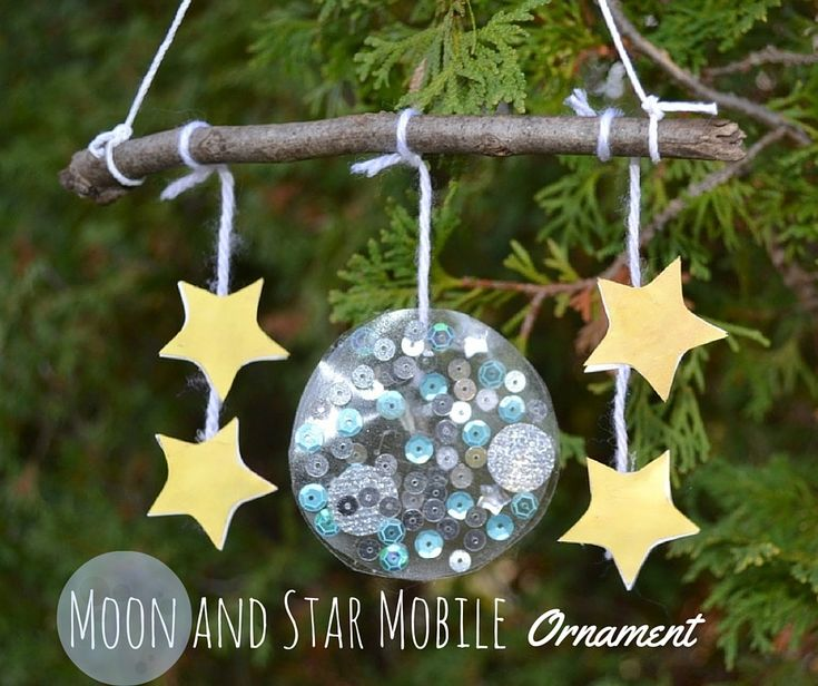 Moon and Star Mobile Ornament - based on Eric Carle's book Papa, Please Get the Moon for Me