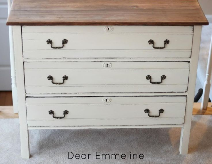 white dresser wood top vintage hardware baby stuff 19829 | e1e7a790f89f3883bf8692220a5e9d1e refinished furniture furniture redo