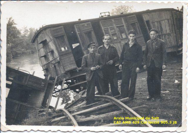 Accident del tren d'Olot (1946) Ref. 429 AMS-AIAS Col·lecció Jesús Bohigas