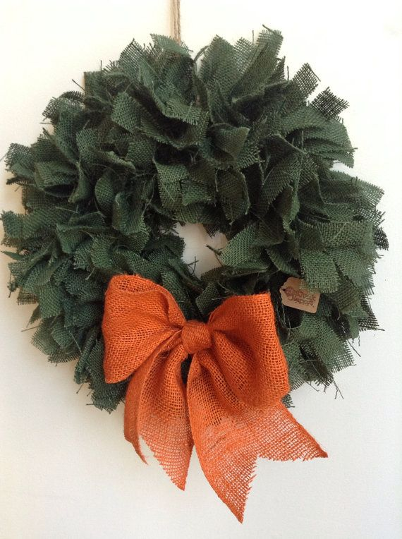 cute burlap wreaths