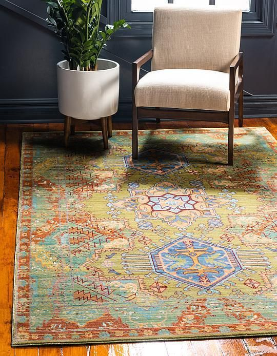Light Green Aqua Area Rug