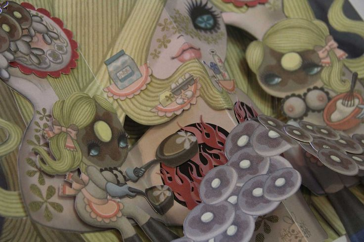 Detail of Pancakes by Junko Mizuno Get one at http://kck.st/1D4v0EZ #art #junkomizuno #popupbook #papercraft #paper #art #crowdfunding #uniquegift #artbook #books #diy #handmade