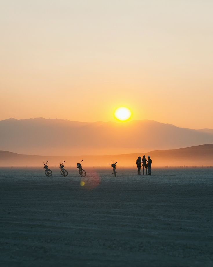 Day turning into night on the Playa -