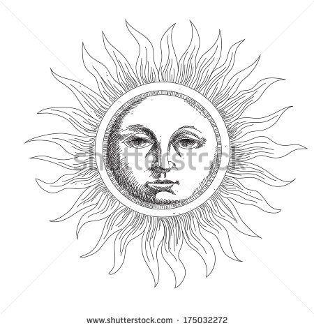 drawing the sun stylized engraving by SveslaTasla, via Shutterstock