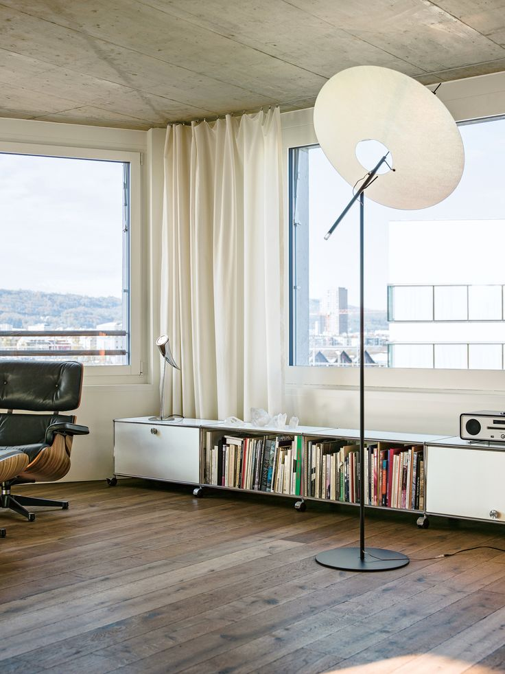 USM Modular Furniture | usm.com | Converted Warehouse | Loft Life | Design Inspiration | Wooden Flooring | Vintage Industrial Furniture | Lamp | Unique | Warehouse Home Design Magazine