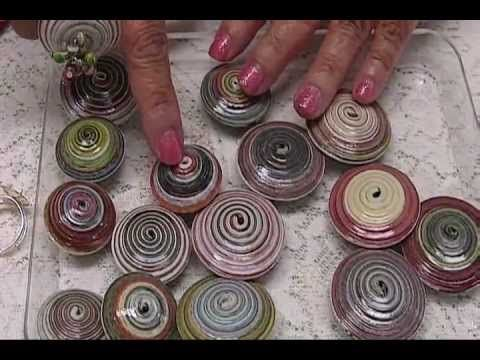 How to:  Tightly Coiled Magazine Strips & Paper Beads by JaniceMae
