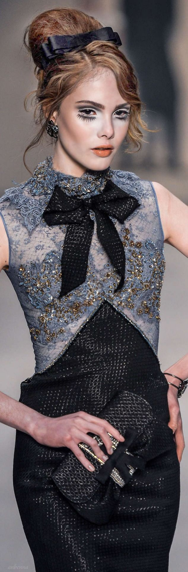 234 Best Images On Pinterest Horse Show Clothes Riding Minimal Evia Pleated Dress Navy Check L Chanel Grey Embroidered Crystal Sheer Bodice W Black Tweed Skirt Replace The Bow With A String Of Pearls