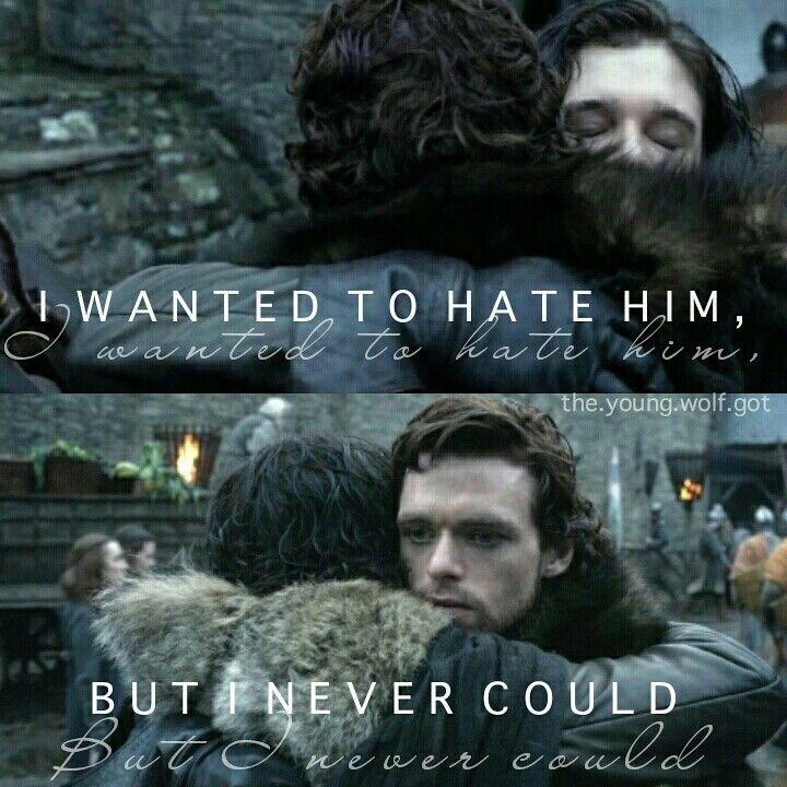 "Robb | Jon ""I loved my brother."" #Stark #Targaryen"
