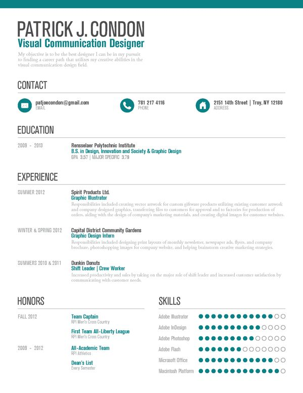 42 best Bewerbung - Resume - 20 images on Pinterest Colors - entry level graphic design resume