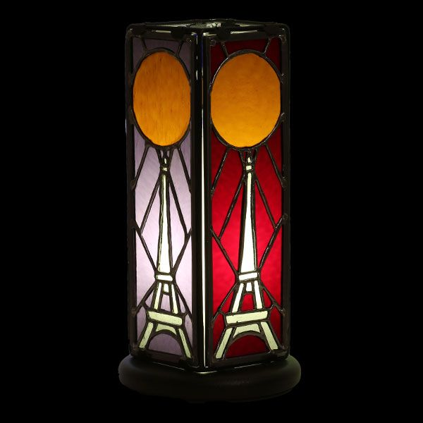 Lampe Tour Eiffel en vitrail Tiffany