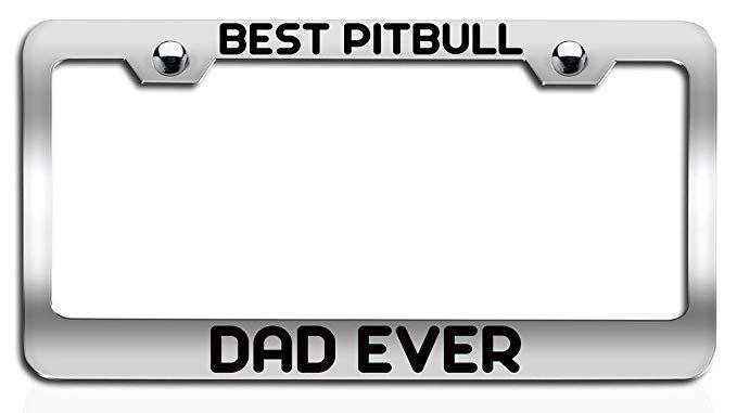 Best Dad Ever License Plate Frame Tag Holder