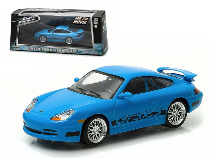 "Brian's 2001 Porsche 911 Carrera Gt3 RS Blue ""The Fast and The Furious Fast Five"" Movie (2011 ) 1/43 Diecast Model Car by Greenlight - Brand new 1:43 scale diecast car model of Brian's 2001 Porsche 911 Carrera Gt3 RS Blue ""The Fast and The Furious Fast Five"" Movie (2011 ) 1/43 Diecast Model Car by Greenlight. Rubber tires. Brand new box. Limited Edition. Detailed interior, exterior. Comes in plastic display showcase. Dimensions approximately L-5 inches long.-Weight: 1. Height: 5. Width: 9…"
