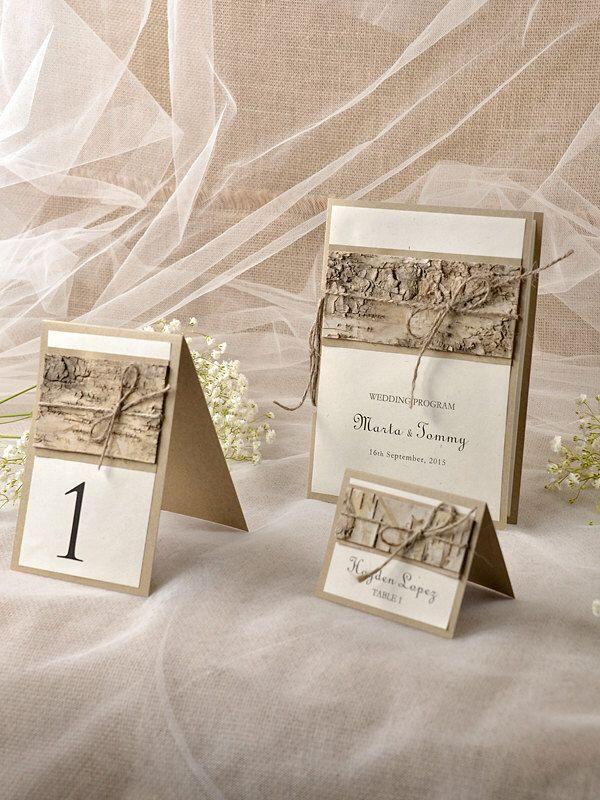 Benutzerdefinierte Auflisten (10) Rustikale Hochzeit Set, Holz Hochzeit Programme,  Tabellennummer