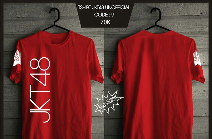 Kaos JKT48 - Trainee Red -  SMS 0838 077 97257