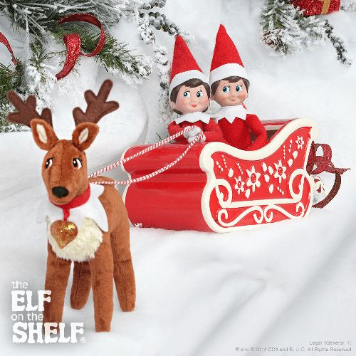 Elf Pet Reindeer Coloring Pages