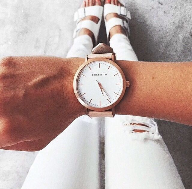The Fifth watches//rose gold and peach