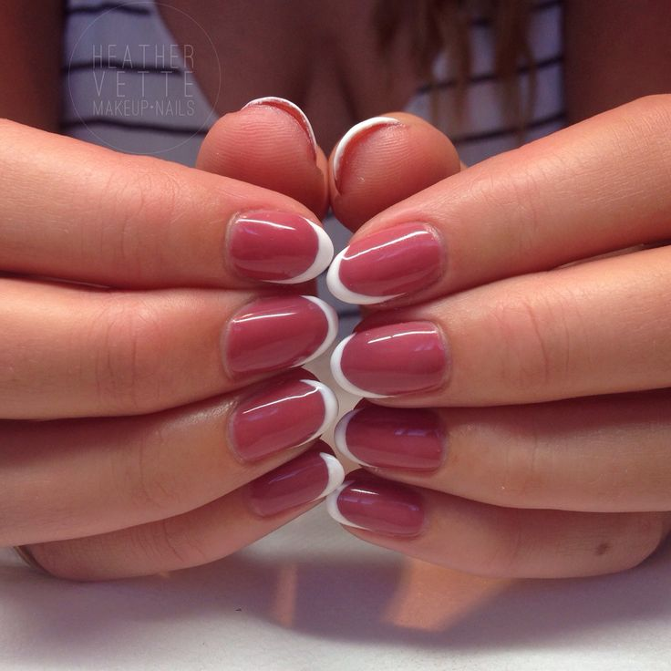 Asymmetrical French Manicure using Artistic Colour Gloss in 'Uptown'