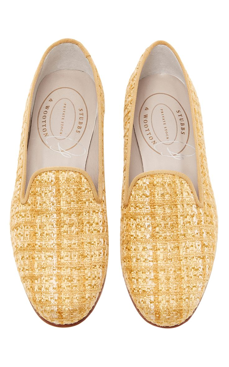 Mélange Gold Slipper by STUBBS & WOOTTON for Preorder on Moda Operandi