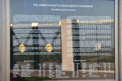 American Battle Monuments Commission maintains 25 permanent American burial grounds, and 26 separate memorials, monuments and markers on foreign soil.