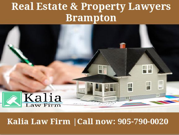 Consult Kalia law Firm for the real estate paper work, transactions, transfer, sales & agreements. Get experts advice from the Brampton lawyers. Call now:- 905-790-0020.