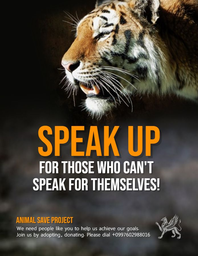 Animal Rights Awareness Poster Flyer Template Animal Abuse Awareness Save Animals Poster Animal Conservation