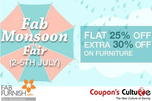 #FabFurnish #Offers Flat 25% + Extra 30% Off on #Furniture on No Minimum Purchase. #Shop Now