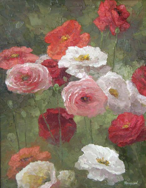 Cougar Gulch Poppies by Peggy Ann Thompson - Painters Chair Fine Art Gallery, Coeur dAlene, Idaho