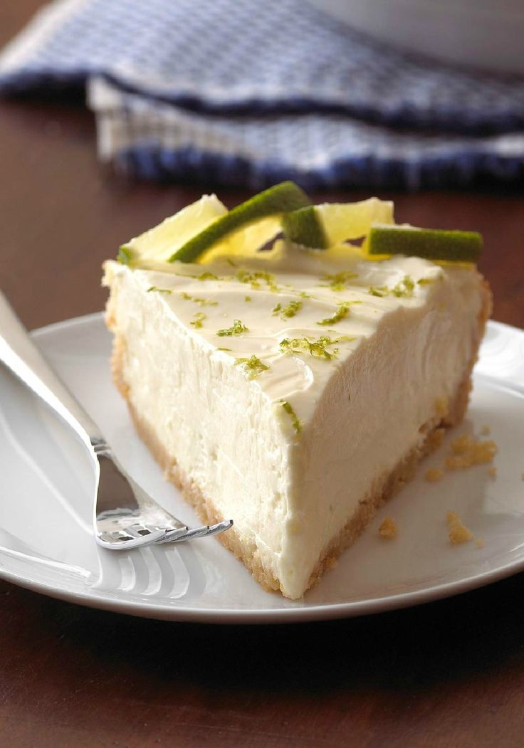 Margarita Cheesecake Pie – No tequila required for this margarita! This easy cheesecake pie gets its sweet-tart deliciousness from sweetened condensed milk and fresh lemon juice.