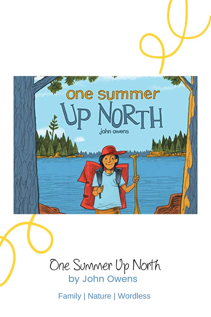 """Review: One Summer Up North by John Owens. """"You'll wish you could spend the summer here. Lovely illustrations with plenty of wonderful subtleties will have readers creating and re-creating this family's adventures camping at the lake."""" #picturebook #wordless #readaloud #bookreview #Minnesota #summer #camping #family #familytime #bookreview #bookblgo #readingtub #giftidea #bookshelfworthy"""