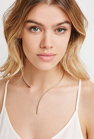 Curved Open Collar Necklace | Forever 21 - 1000095027