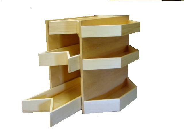 Corner Cabinet Lazy Susan Replacement Shelves   WoodWorking Projects U0026 Plans