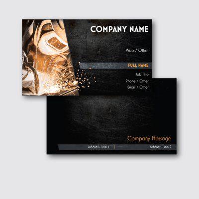 Personalized Standard Business Cards Designs, Welding & Metal Work, Construction, Repair & Improvement Standard Business Cards | Vistaprint