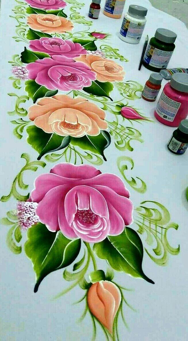 Pinturasobretela Pintura En Tela Flores Para Dibujar Y