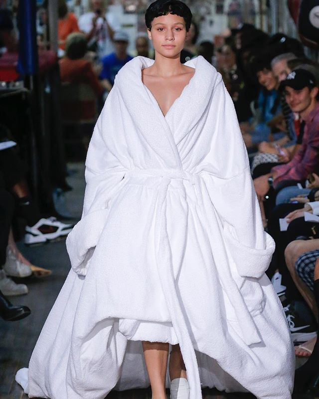 We had thought that pyjamas as a trend was the best thing that ever happened in fashion till we saw this bathrobe at #NYFW. @vaquera.nyc What do you guys think? via GRAZIA INDIA MAGAZINE OFFICIAL INSTAGRAM - Fashion Campaigns Haute Couture Advertising Editorial Photography Magazine Cover Designs Supermodels Runway Models
