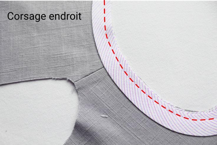 Ce tutoriel détaille en photos les étapes de la pose d'un biais aux emmanchures, afin d'obtenir des raccords parfaits. Place aux finitions parfaites !