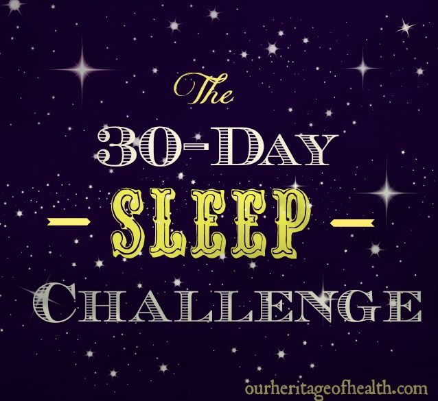 Who wants to join the 30-day sleep challenge?!