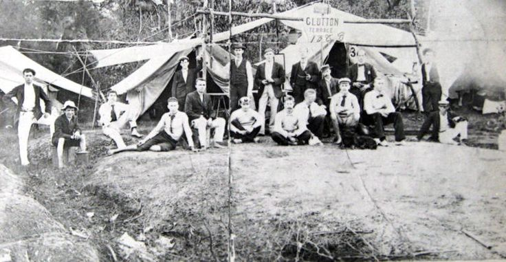 The Hunk Squadron camping group, Christmas Party, 1888