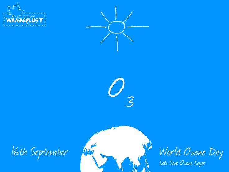001 Dream Wanderlust is celebrating World Ozone Day Lets