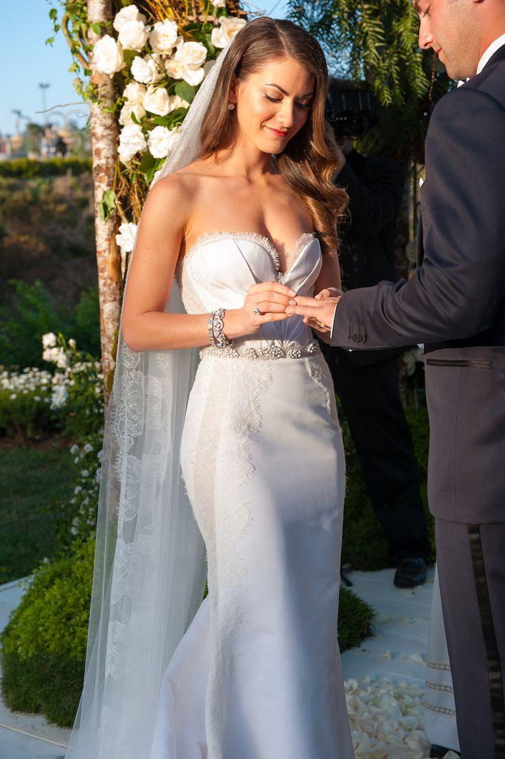 the wedding dress j mendel wedding dress Glamorous Garden Affair in Beverly Hills