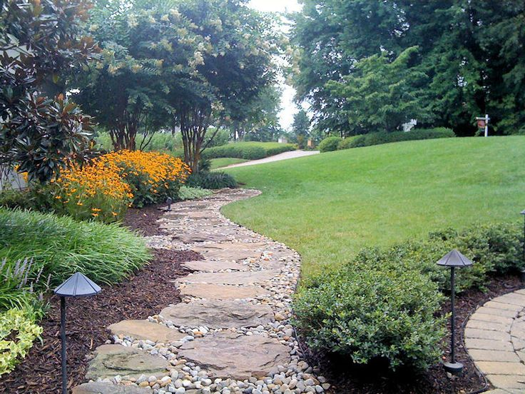 Mesmerizing River Rock Landscaping Pictures: Cool Sustainable River Rock Path ~ ericpoll.com Exterior Design Inspiration